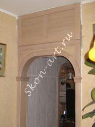 Межкомнатные арки в стиле Романтика с зашивкой углов