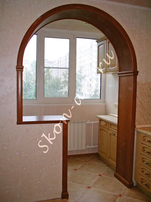 оригинальные арки кухни на лоджию фото